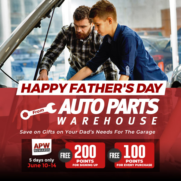 Happy Father's Day: Save on gifts on your dad's needs for the garage | APW Rewards: Free 200 Points for Signing Up; Free 100 Points for Every Purchase [5 Days Only! June 10 - 14]