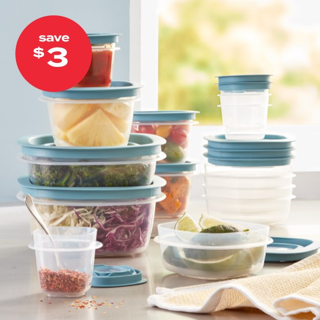 save $3 | Rubbermaid® Flex & Seal™ 26pc food storage set with easy-find lids