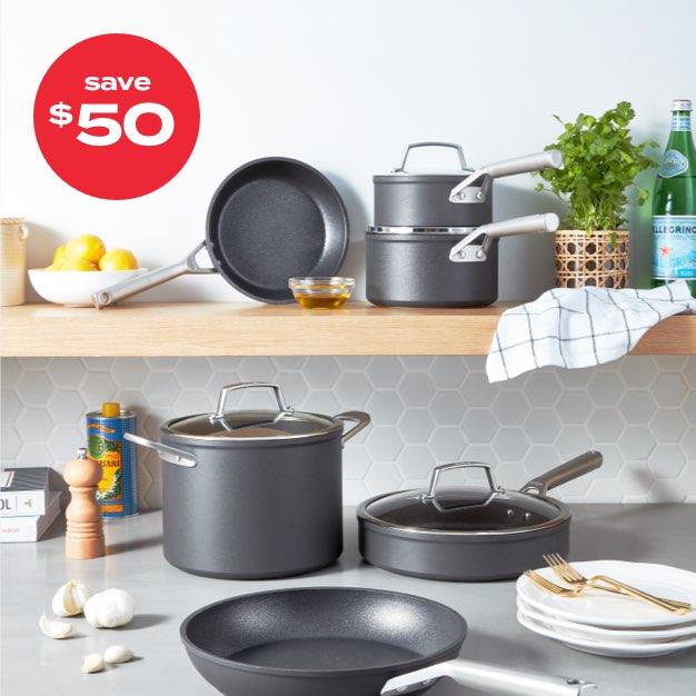 save $50 | Ninja™ Foodi™ NeverStick™ premium hard anodized 10pc cookware set
