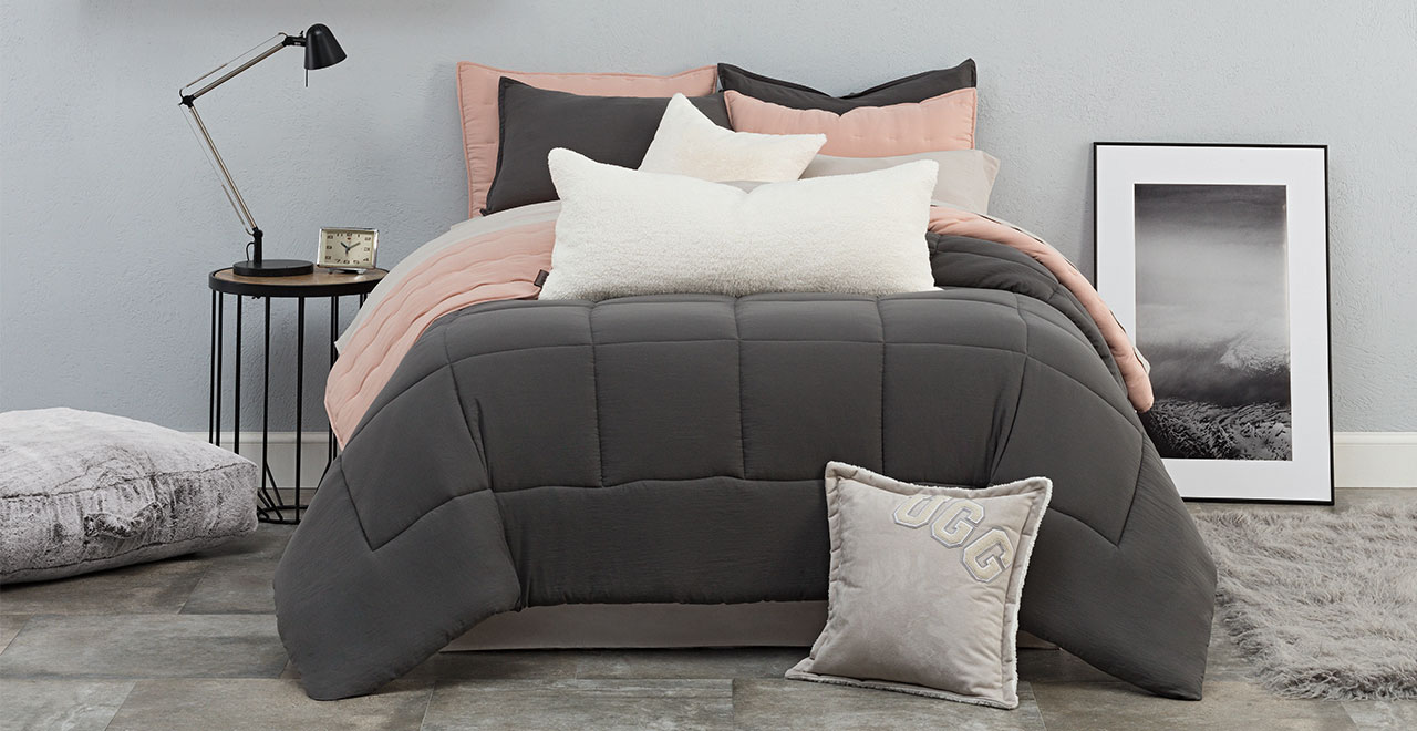 Sunwashed comforter sets available in additional colours and sizes.
