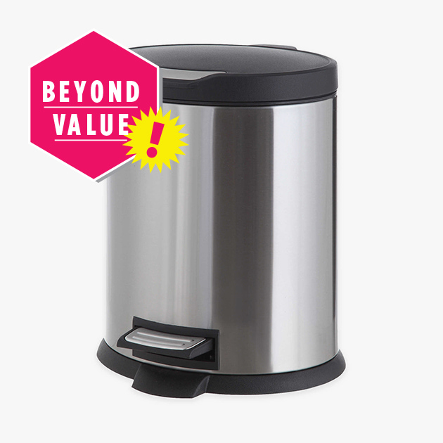 Stainless Steel 5-Liter Step-On Trash Can - Beyond Value