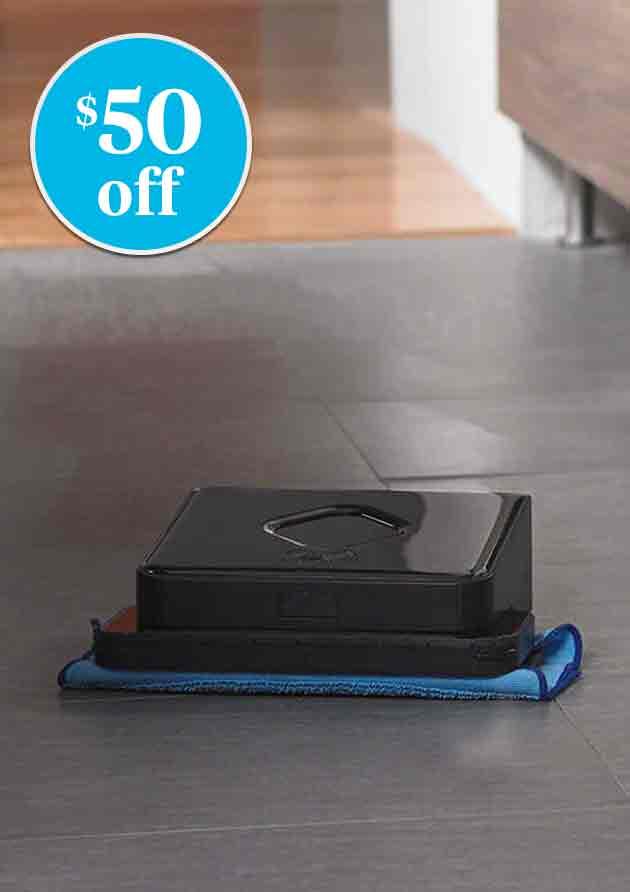 $50 off iRobot® Braava® 380t Robot Mop