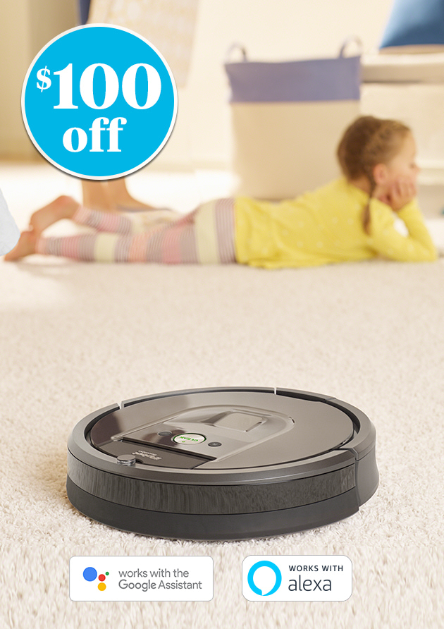 $100 off iRobot® Roomba® 980 Wi-Fi® Connected Robot Vacuum