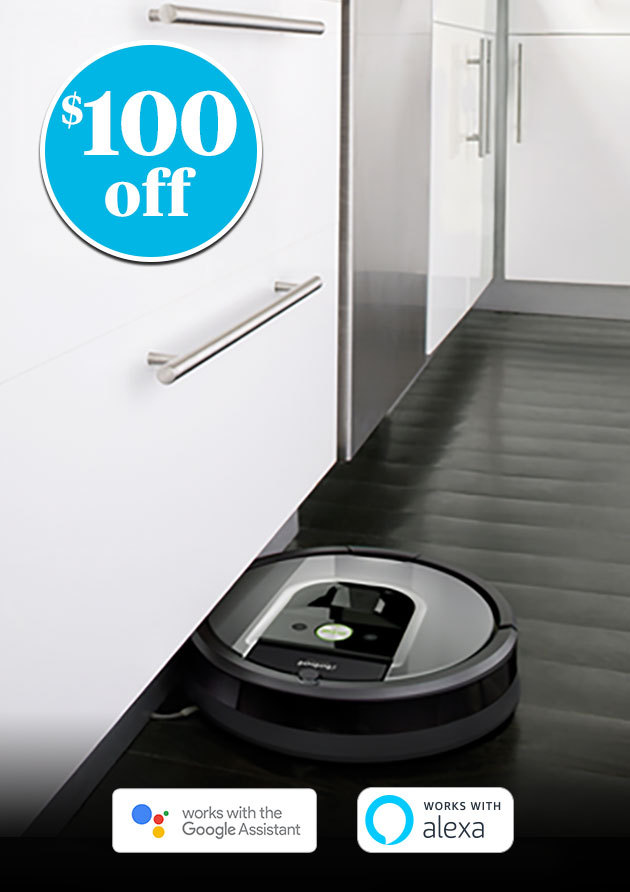 $100 off iRobot® Roomba® 960 Wi-Fi® Connected Robot Vacuum