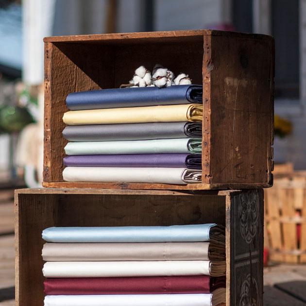 Heartland HomeGrown™ 400-Thread-Count Solid Sateen Sheet Set