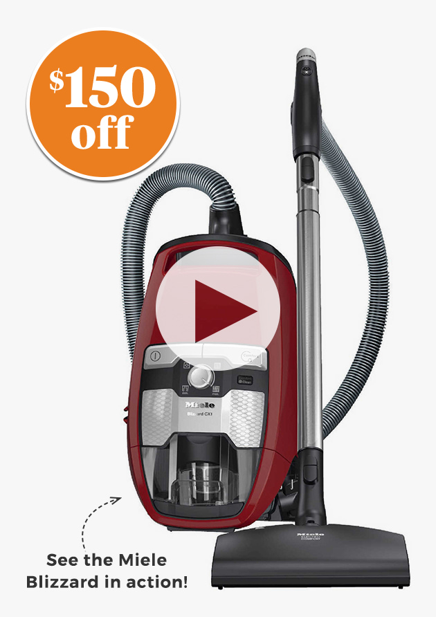 $150 OFF.see the miele blizzard in action!