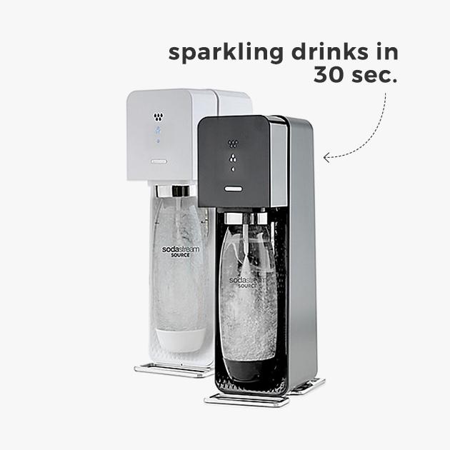 sparkling drinks in 30 sec.