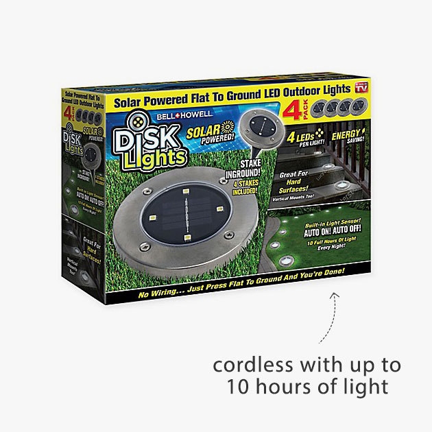 cordless with up to 10 hours of light