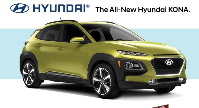 HYUNDAI(R)   The all-new Hyundai KONA.