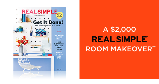 A $2,000 REAL SIMPLE ROOM MAKEOVER**