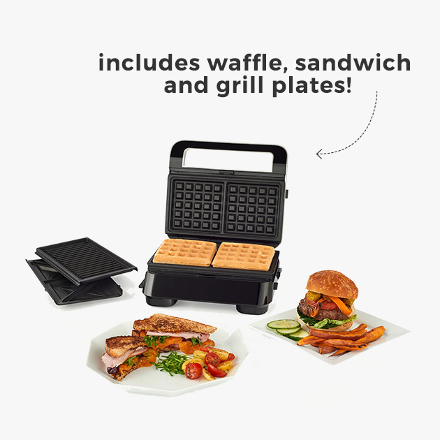 includes waffle,sandwich and grill plates!