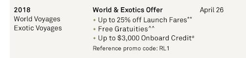 World & Exotics Offer