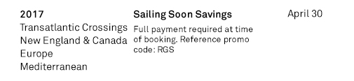 Sailing Soon Savings