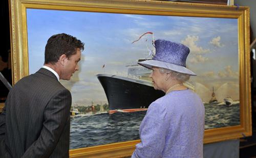 Robert lloyd with the queen