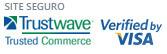 Site seguro Trustwave e Verified by Visa