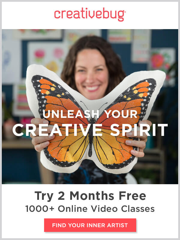 Learn With CreativeBug. 2 Month Free. FIND YOUR INNER ARTIST.