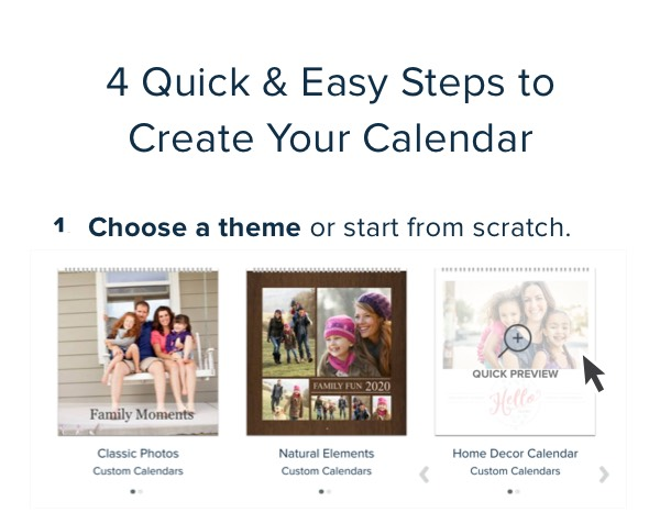 4 Quick & Easy Steps to Create Your Calendar - 1. Choose a theme