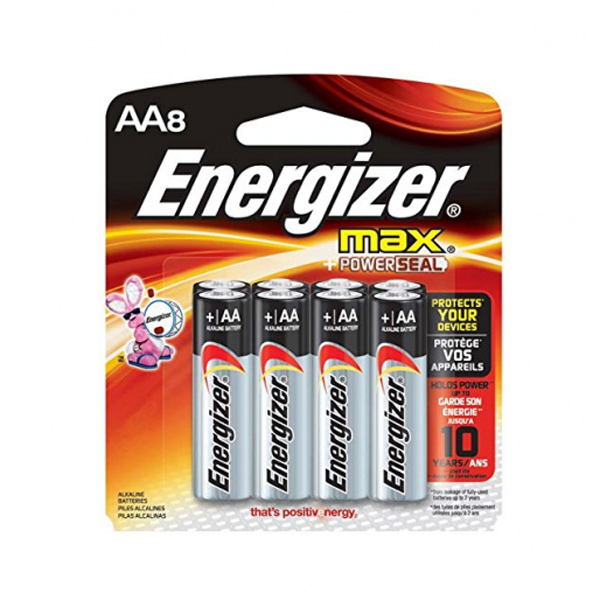 Energizer Max AA Batteries, 8 Pack