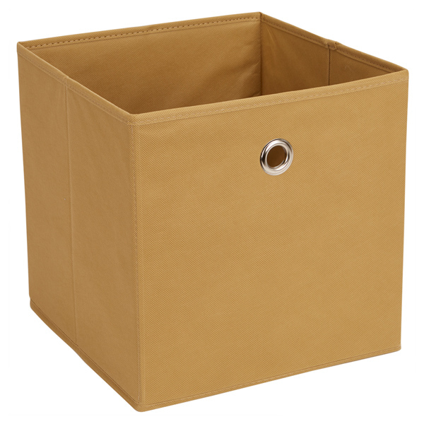 West Bay Tan Fabric Storage Cube