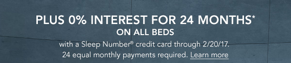 0% interest for 24 months on all beds | Learn more