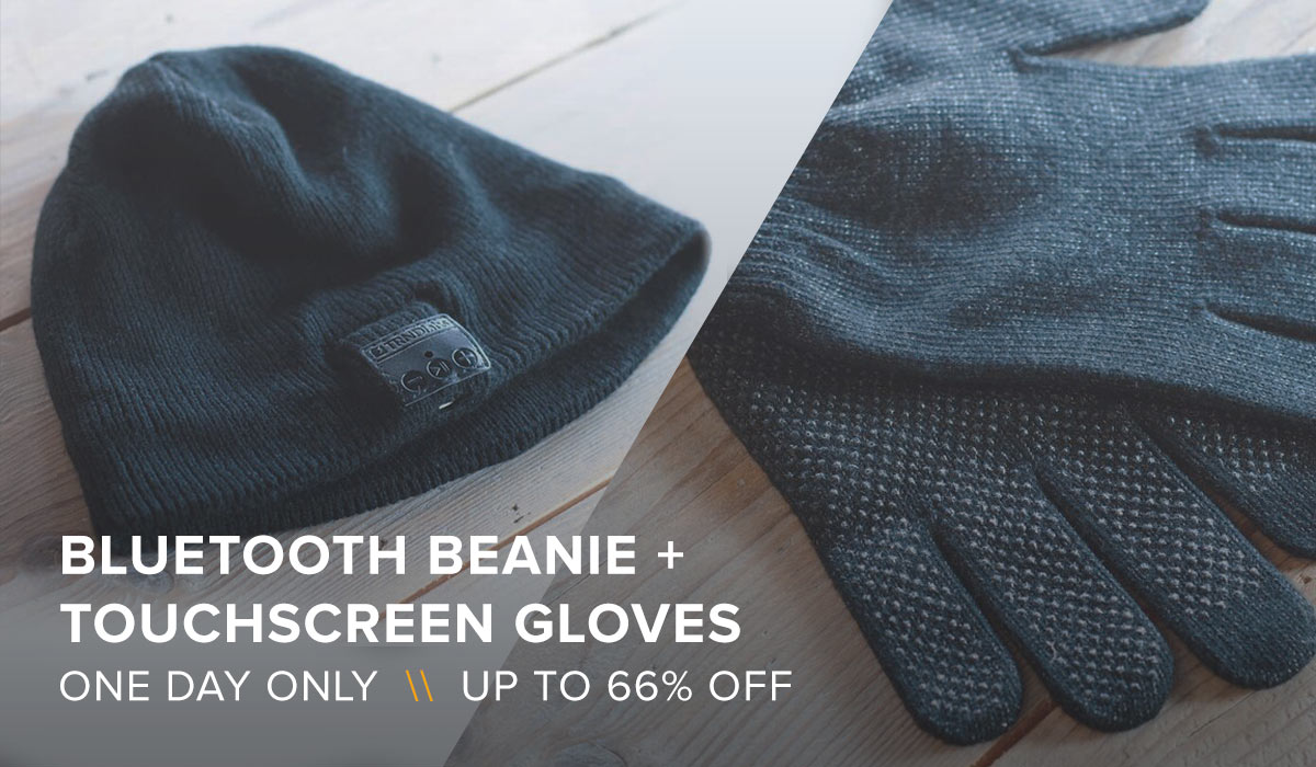 Bluetooth Beanie & Touchscreen Gloves Bundle