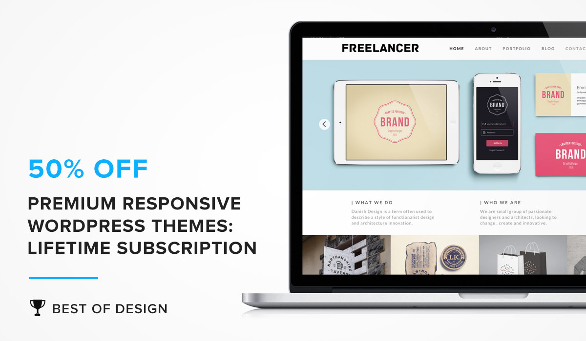 Premium Responsive WordPress Themes: Lifetime Subscription