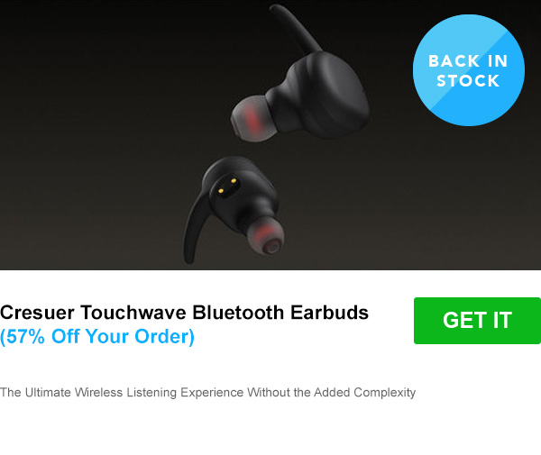 Cresuer Touchwave Bluetooth Earbuds