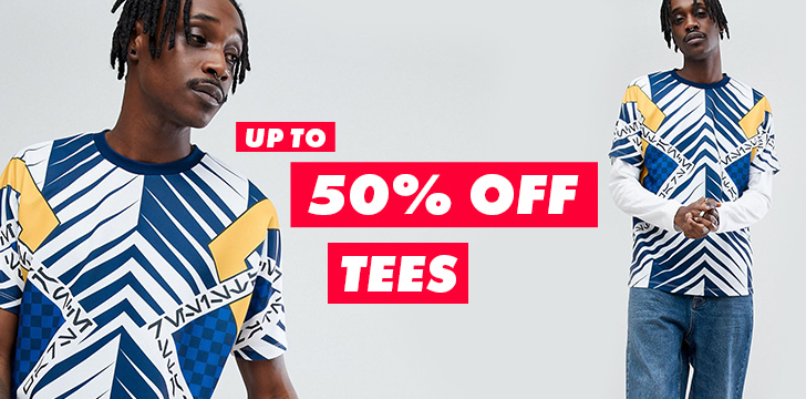 Up to 50% off tees