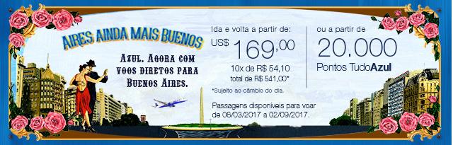 Aires ainda mais buenos. Azul. Agora com voos diretos para Buenos Aires.