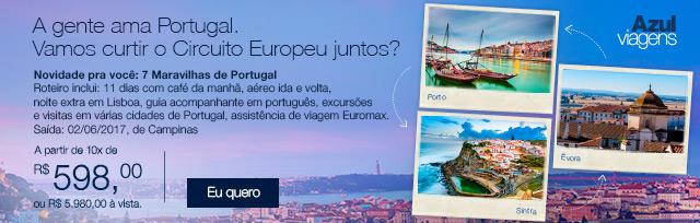 A gente ama Portugal.  Vamos curtir o Circuito Europeu juntos?