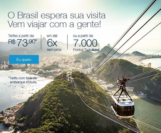 O Brasil espera sua visita. Vem viajar com a gente!