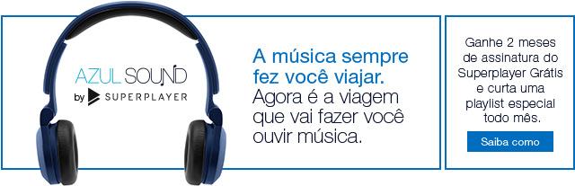 A música sempre fez você viajar. Azul Sound by Superplayer