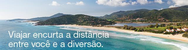Viajar encurta a distância entre você e a diversão.
