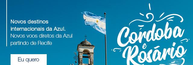 Novos destinos internacionais da Azul.Novos voos diretos da Azul partindo de Recife. Eu quero.
