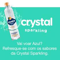 Vai voar Azul? Refresque-se com os sabores da Crystal Sparkling.