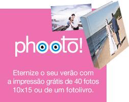 Eternize o seu verão com a impressão grátis de 40 fotos 10x15 ou de um fotolivro.