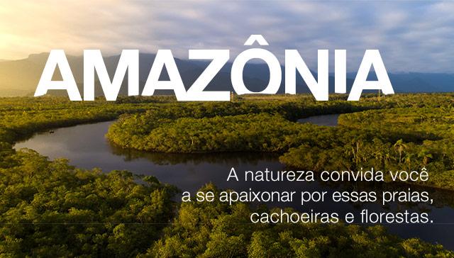 Amazônia. A natureza convida você a se apaixonar por essas praias, cachoeiras e florestas.
