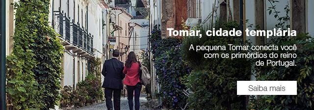 Tomar, cidade templária A pequena Tomar conecta você com os primórdios do reino de Portugal. Saiba mais.