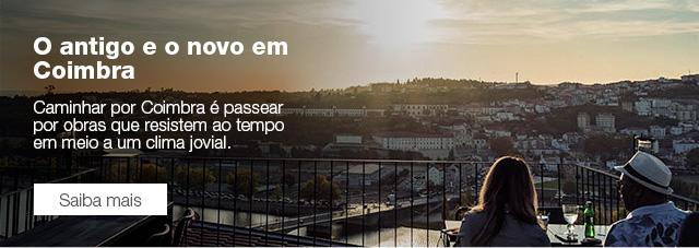 O antigo e o novo em Coimbra Caminhar por Coimbra é passear por obras que resistem ao tempo em meio a um clima jovial.