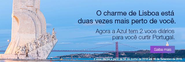 O charme de Lisboa está duas vezes mais perto de você. Agora a Azul tem 2 voos diários para você curtir Lisboa.