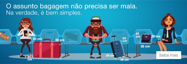 O assunto bagagem não precisa mala. Na verdade, é bem simples. Saiba Mais..