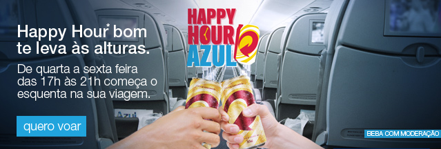 Happy Hour bom te leva às alturas. Toda quarta e sextadas 17hàs21h começa o esquenta na sua viagem. Quero voar