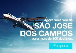 Agora você voa de SÃO JOSE DOS CAMPOS para mais de 100 destinos. Eu quero