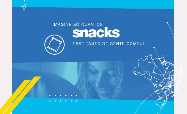 Imagine só quantos snacks esse tanto de gente comeu!