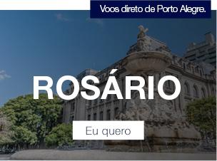 Voos direto de Porto Alegre. Rosário. Eu quero