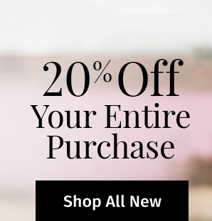20% off your entire purchase! Use code at checkout or flash email to a cashier. One time use only. Valid thru 7/25/17. SHOP ALL NEW