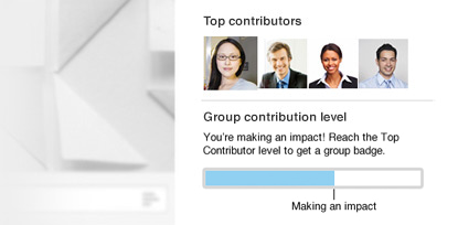 Group contribution level – Keep it up!