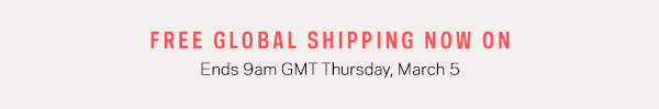 Free global shipping on orders over £100/$160/€140/200AUD at Farfetch.com