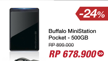 Buffalo MiniStation Pocket - 500GB - Hitam