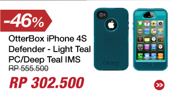 OtterBox iPhone 4S Defender - Light Teal PC/Deep Teal IMS
